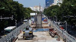 Rào chắn đường Trần Hưng Đạo để thi công nhà ga ngầm từ 1/6