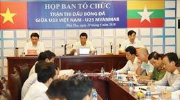 Sẵn sàng cho trận giao hữu quốc tế giữa đội tuyển U23 Việt Nam và U23 Myanmar