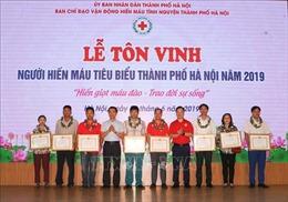 Tôn vinh các gia đình, cá nhân tiêu biểu trong phong trào hiến máu tình nguyện