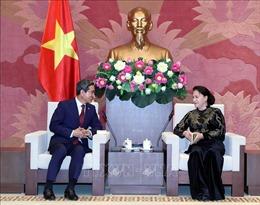 Chủ tịch Quốc hội tiếp Chủ tịch Nhóm nghị sĩ hữu nghị Hàn - Việt