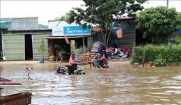 Tuyến đường Hồ Chí Minh đoạn qua huyện Ngọc Hồi, Kon Tum bị ngập nặng
