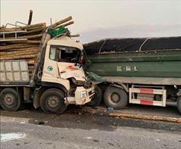 Lâm Đồng: Điều tra vụ lâm tặc lao xe chở gỗ lậu vào lực lượng chức năng để bỏ trốn