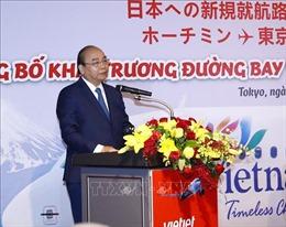 Thủ tướng Nguyễn Xuân Phúc dự lễ công bố hai đường bay mới tới Nhật Bản