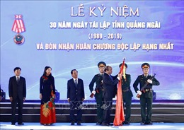 Thủ tướng Nguyễn Xuân Phúc dự Lễ kỷ niệm 30 năm Ngày tái lập tỉnh Quảng Ngãi