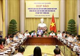 Công bố Lệnh của Chủ tịch nước về 7 luật vừa được Quốc hội thông qua