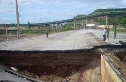 Khắc phục hậu quả vụ sụt đường làm 2 người tử vong tại Tĩnh Gia, Thanh Hóa