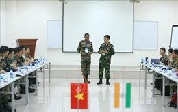 Việt Nam và Ấn Độ diễn tập chung trên sa bàn về Gìn giữ hòa bình Liên hợp quốc