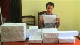 Bắt quả tang vụ vận chuyển 2 kg ma túy tổng hợp cùng 10 bánh heroin