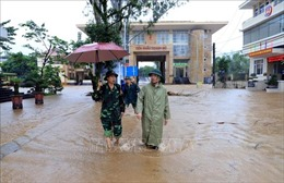 Cửa khẩu Hoành Mô bị ngập do mưa lũ