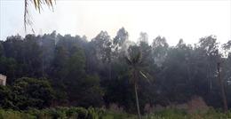 Khoảng 100 người chữa cháy rừng đồi Hùng Thắng ở Hạ Long