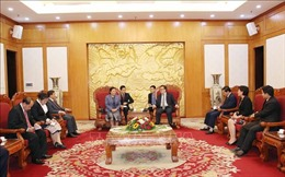 Trưởng ban Đối ngoại Trung ương tiếp Đoàn Ban Đối ngoại Trung ương Đảng NDCM Lào