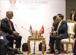 Hội nghị Cấp cao ASEAN 35: Phó Thủ tướng, Bộ trưởng Ngoại giao Phạm Bình Minh tiếp Cố vấn an ninh quốc gia Mỹ Robert O'Brien