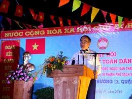 Bí thư Thành ủy Hồ Chí Minh dự Ngày hội Đại đoàn kết dân tộc tại Phường 12, Quận 4
