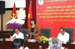 Phó Chủ tịch nước Đặng Thị Ngọc Thịnh làm việc với Tập đoàn Công nghiệp Cao su Việt Nam