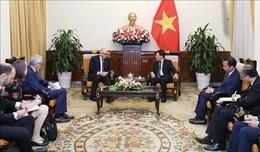 Phó Thủ tướng Phạm Bình Minh tiếp Quốc Vụ khanh Bộ Ngoại giao Đức