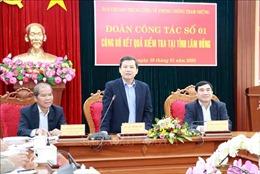 Công bố kết luận kiểm tra tại tỉnh Lâm Đồng