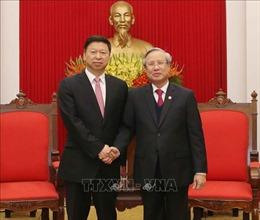 Thường trực Ban Bí thư Trần Quốc Vượng tiếp Đoàn Đại biểu Đảng Cộng sản Trung Quốc