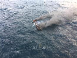 Cháy tàu có 10 người Việt ở Hàn Quốc, không ai bị thương nặng