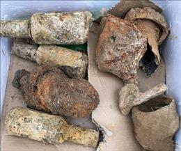 Tiêu hủy hơn 300 kg vũ khí, vật liệu nổ được phát hiện ở khu vực di tích Hầm Đờ Cát
