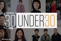 Ba doanh nhân Việt Nam được vinh danh trên tạp chí Forbes '30 Under 30 Asia'