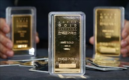 Giá vàng thế giới giảm xuống mức thấp của hai tuần