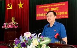 Đoàn Đại biểu Quốc hội thành phố Hà Nội tiếp xúc cử tri trước Kỳ họp thứ 9, Quốc hội khóa XIV