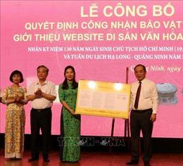 Quảng Ninh công bố 3 hiện vật được công nhận Bảo vật quốc gia