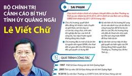Bộ Chính trị cảnh cáo Bí thư Tỉnh ủy Quảng Ngãi Lê Viết Chữ