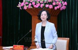 Đồng chí Trương Thị Mai: Bản chất công tác dân vận là tăng cường lòng tin của dân với Đảng