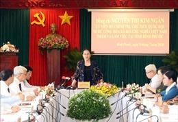 Chủ tịch Quốc hội Nguyễn Thị Kim Ngân làm việc với lãnh đạo chủ chốt tỉnh Bình Phước