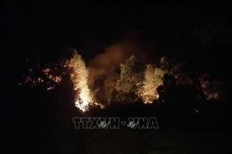 Xuyên đêm khống chế cháy rừng ở núi Con Voi