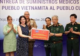 Bộ Quốc phòng Việt Nam trao tặng vật tư y tế hỗ trợ Cuba phòng, chống dịch COVID-19