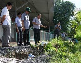 Nhiều điểm sạt lở nghiêm trọng trên sông Ô Môn
