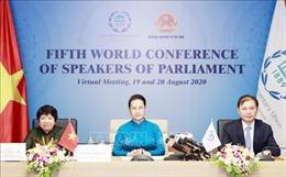 Chủ tịch Quốc hội Nguyễn Thị Kim Ngân dự Hội nghị các Chủ tịch Quốc hội Thế giới