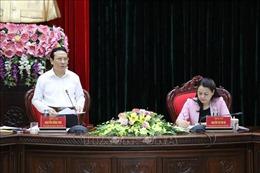 Đoàn công tác của Ban Kinh tế Trung ương làm việc với tỉnh Ninh Bình