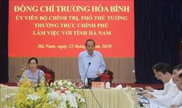 Hà Nam cần đẩy nhanh tiến độ giải ngân vốn đầu tư công