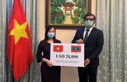 Việt Nam trao quà hỗ trợ Chính phủ và nhân dân Maldives chống dịch COVID-19