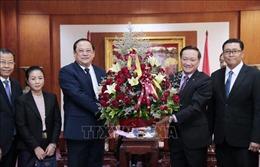 Lãnh đạo các bộ, ngành của Lào chúc mừng kỷ niệm 75 năm Quốc khánh 2/9