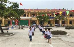 Toàn bộ học sinh Trường Tiểu học Kim Đồng (Ninh Bình) đã đến trường