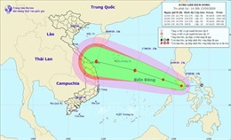 Áp thấp nhiệt đới sẽ đi vào Biển Đông và khả năng mạnh thêm