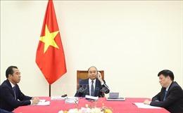 Thủ tướng Nguyễn Xuân Phúc điện đàm với Thủ tướng Đức Angela Merkel
