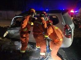 Tai nạn giao thông nghiêm trọng ở Trung Quốc làm 18 người thiệt mạng