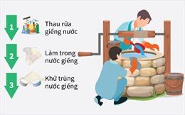 Quy trình 3 bước xử lý giếng khơi sau bão lụt