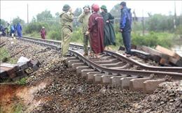 Báo cáo nhanh về thiệt hại của ngành đường sắt do bão số 9