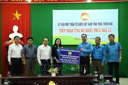Thăm hỏi, hỗ trợ người dân Thừa Thiên - Huế bị ảnh hưởng bởi bão lũ