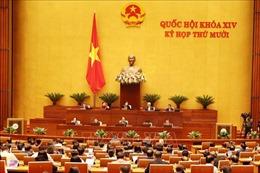 Thông cáo báo chí số 10, Kỳ họp thứ 10, Quốc hội khóa XIV