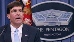 Bộ Quốc phòng Mỹ bác bỏ tin đồn Bộ trưởng Mark Esper từ chức