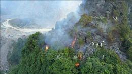 Ninh Bình: Cơ bản dập tắt đám cháy rừng tại khu vực mỏ khai thác đá