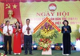 Phó Chủ tịch nước Đặng Thị Ngọc Thịnh dự ngày hội đại đoàn kết toàn dân tộc tại Phú Thọ