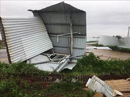 Quảng Trị: Sáu người bị thương, gần 100 ngôi nhà bị tốc mái